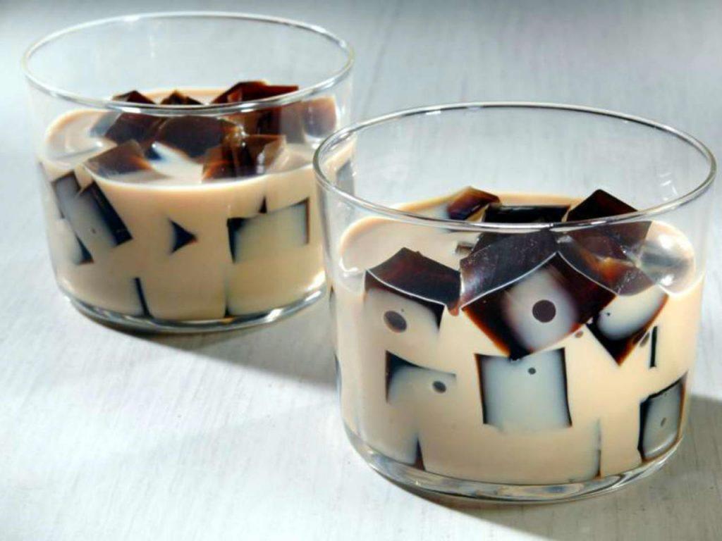 gelatina de café con crema irlandesa